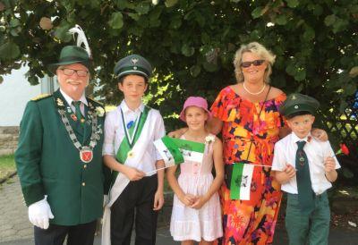 Kinder-Königspaar Fabio Vaccaro und Annike Kudella